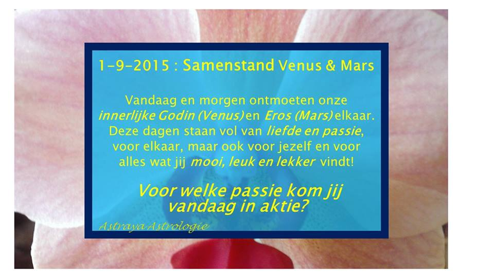 Samenstand Venus & Mars 1 september 2015