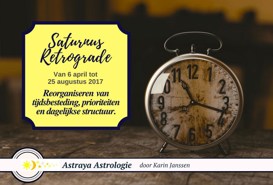 Saturnus Retrograde van 6 april tot 25 augustus 2017