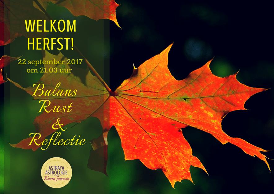 Welkom Herfst op 22 september 2017