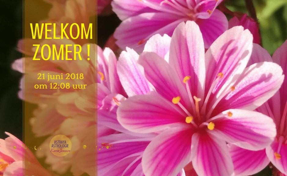 Welkom Zomer! Op 21 juni 2018