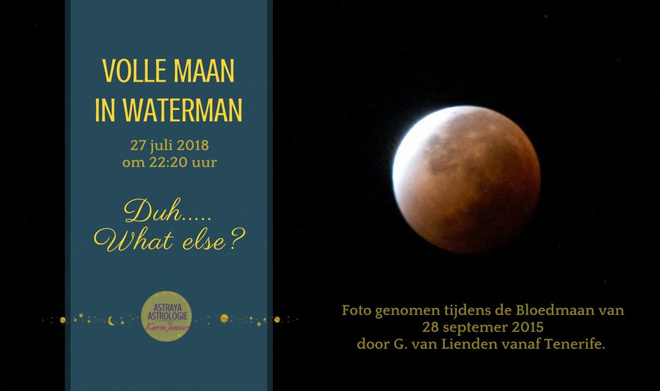 Volle Bloedmaan in Waterman op 27 juli 2018