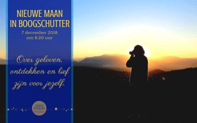 Nieuwe Maan in Boogschutter op 7 december 2018