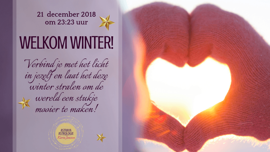 Welkom Winter op 21 december 2018