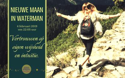 Nieuwe Maan in Waterman op 4 februari 2019