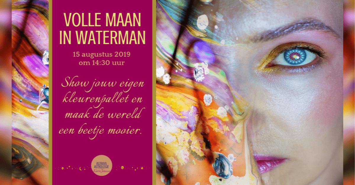 Volle Maan in Waterman, creatief, excentriek en uniek door Astraya Astrologie