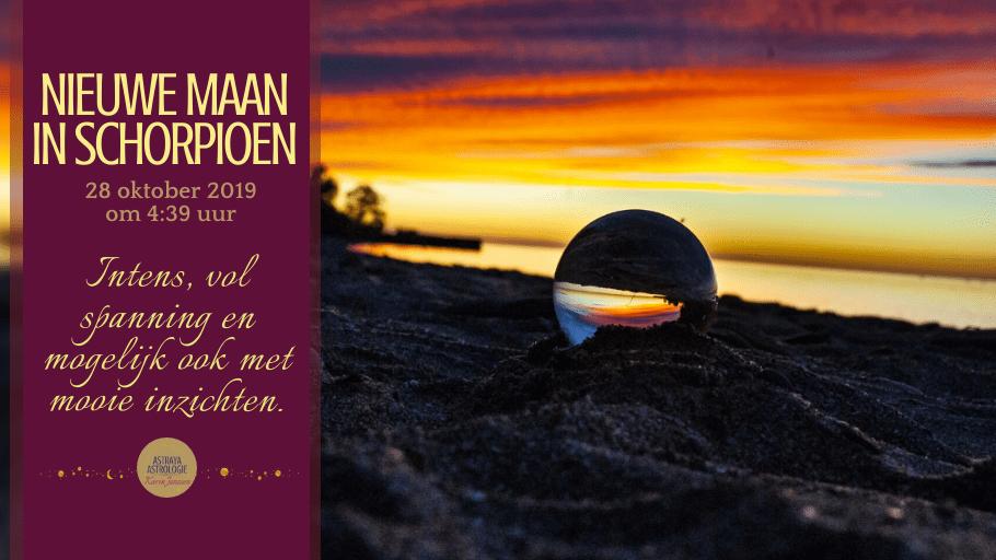 Nieuwe Maan in Schorpioen op 28 oktober 2019