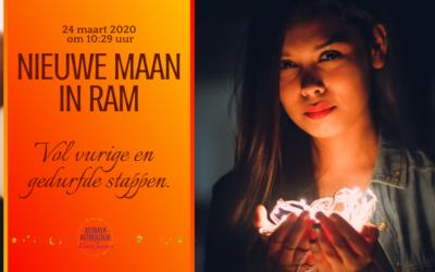 Nieuwe Maan in Ram op 24 maart 2020