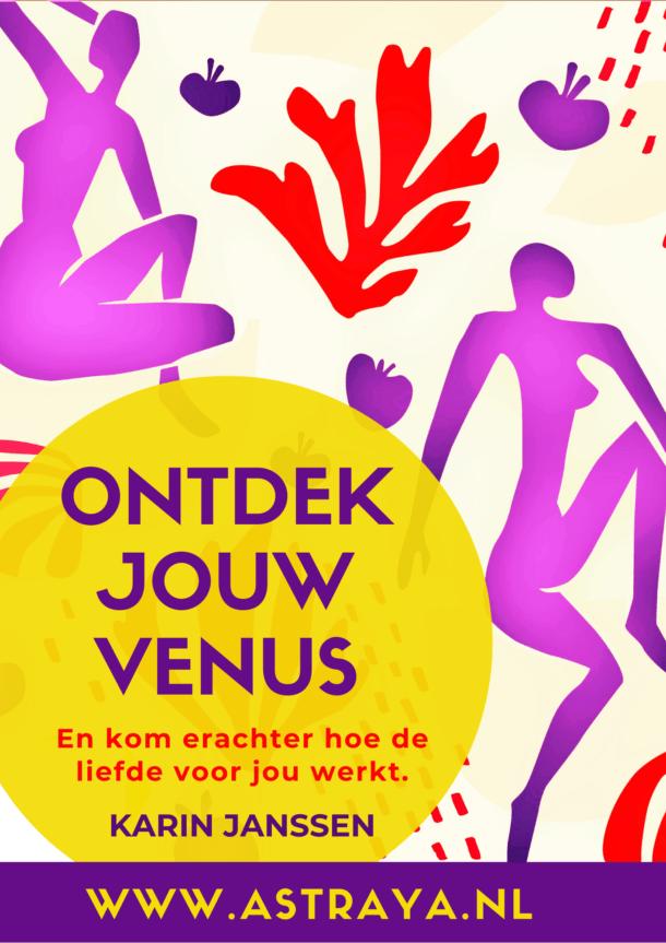 Voorkant Cheatsheet Ontdek jouw venus van astraya.nl